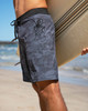 """Short 19"""" camo boardshorts with large pocket that fits an iphone"""