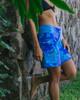 """Monstera Leaf Blue 9"""" Women's Boardshort Wide"""