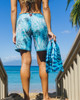 "Sunset Palms 9"" Women's Boardshort back"