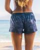 """Waikiki Black Camo 2.5"""" Elastic Waistband Women's Boardshort Back"""