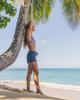 """Waikiki Black Camo 2.5"""" Elastic Waistband Women's Boardshort Wide"""