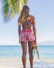 """Women's Waikiki Vintage Hibiscus 2.5"""" Boardshort Back"""