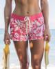 "Women's Waikiki Vintage Hibiscus 2.5"" Boardshort Front"