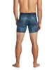Men's Premium Underwear Modal Cotton Boxer Briefs Octo Blue Back