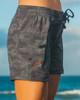 """Waikiki Black Camo 5"""" Women's Boardshort Side"""