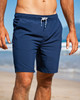 Men's Navy Blue Performance Workout Shorts for Fitness, Running, Training