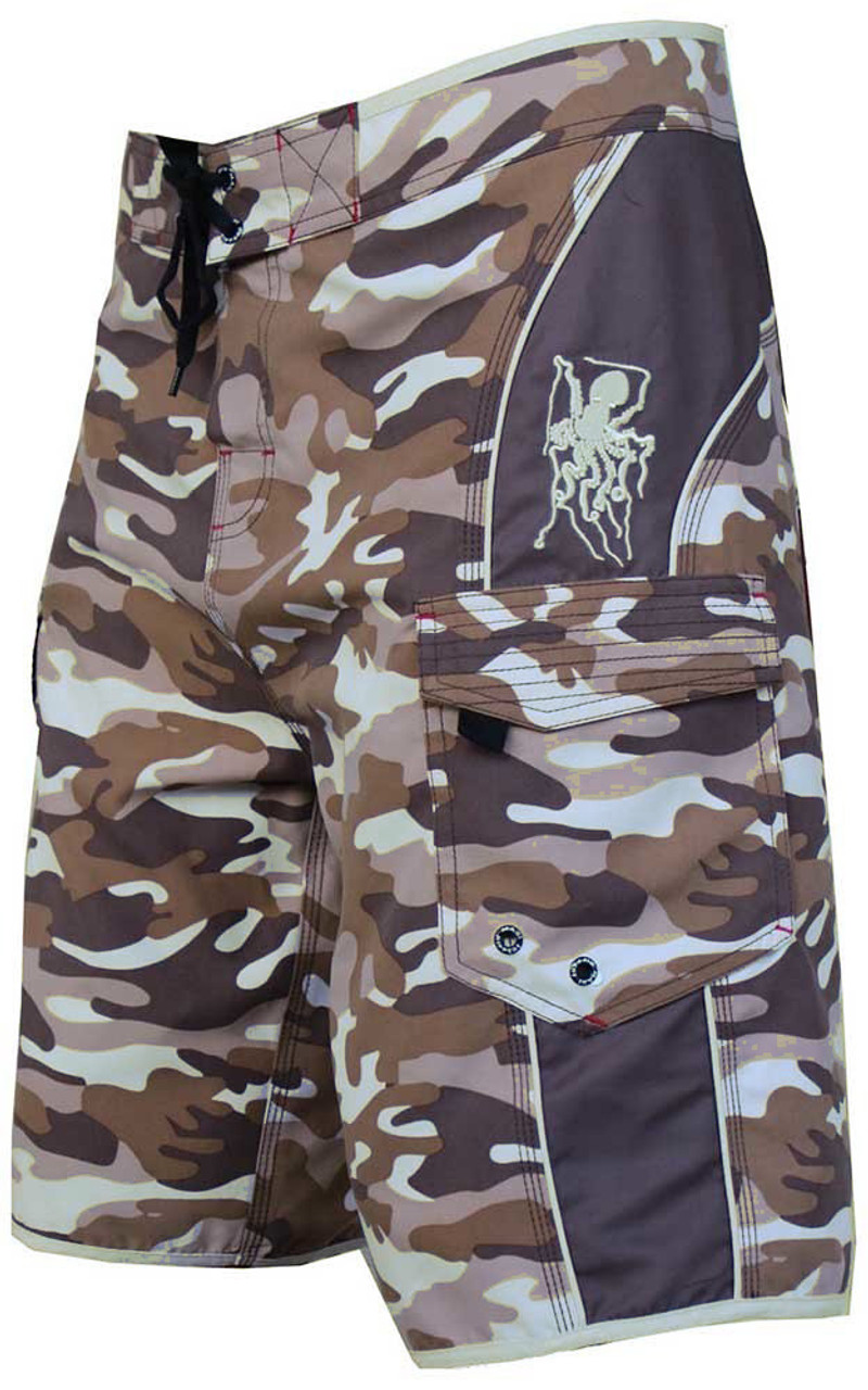 d54c49a64caad Camo Boardshort with octo embroidery