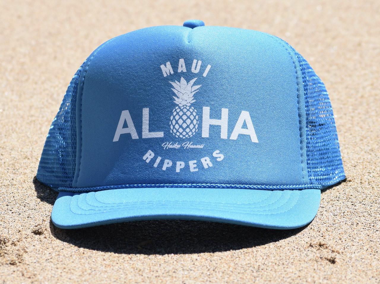 968e9e42d Aloha Pineapple Trucker Hat Turquoise