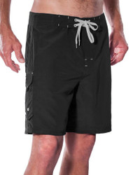 "Black 19"" Men's Stretch Boardshort"