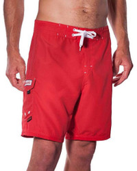 "Lifeguard Uniform Boardshort Microfiber Red 19"" - 21"""