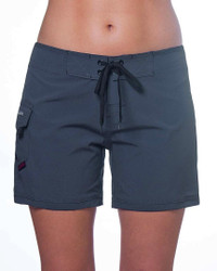 "Ebony 5"" Women's Boardshort Front"
