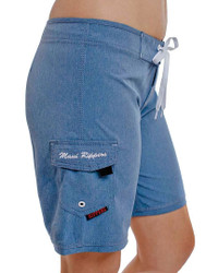 Melange Blue Women's Boardshort Side