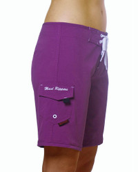 "Fuscia Women's 9"" Boardshort Side"