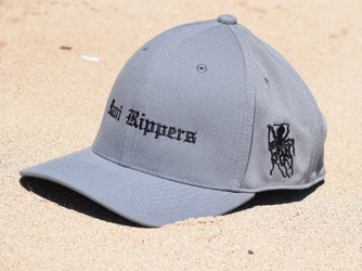 Embroidered Octo Baseball Cap - Charcoal