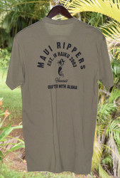 Crafted with Aloha Men's Pocket Tee - Army Green