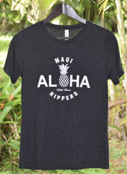 Aloha Pineapple Womens Tee - Charcoal