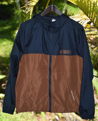 Haiku Lightweight Windbreaker - Navy/Saddle
