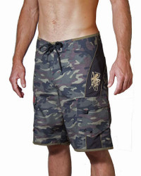 Hawaiian Classic Green Camo Men's Boardshort
