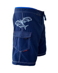 Ulua Navy Men's Fishing Boardshort Embroidery