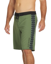 """Maui Rippers Tribal Olive 21"""" Stretch Boardshort"""