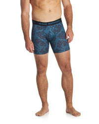 Men's Premium Underwear Modal Cotton Boxer Briefs Octo Blue Front