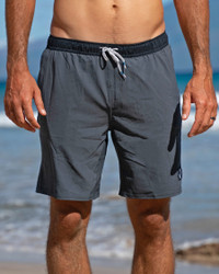 Men's Gray Performance Workout Shorts for Fitness, Running, Training