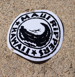 "Maui Rippers Logo Sticker 3"" Round"