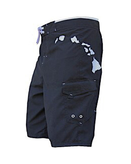 Hawaiian Island Black Boardshort