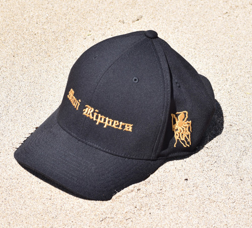 Embroidered Octo Hat Blk/Gold