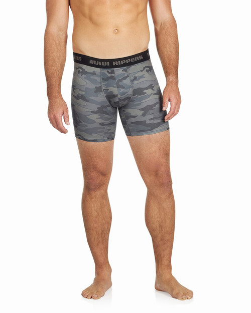 Men's Premium Underwear Modal Cotton Boxer Briefs Camo Front