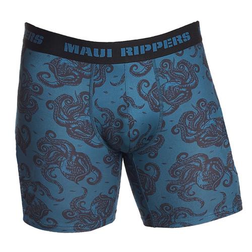 Men's Premium Underwear Modal Cotton Boxer Briefs Octo Blue