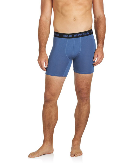 Men's Premium Underwear Modal Cotton Boxer Briefs Blue Front
