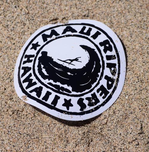 "Maui Ripper Sticker Logo 3"" Round"