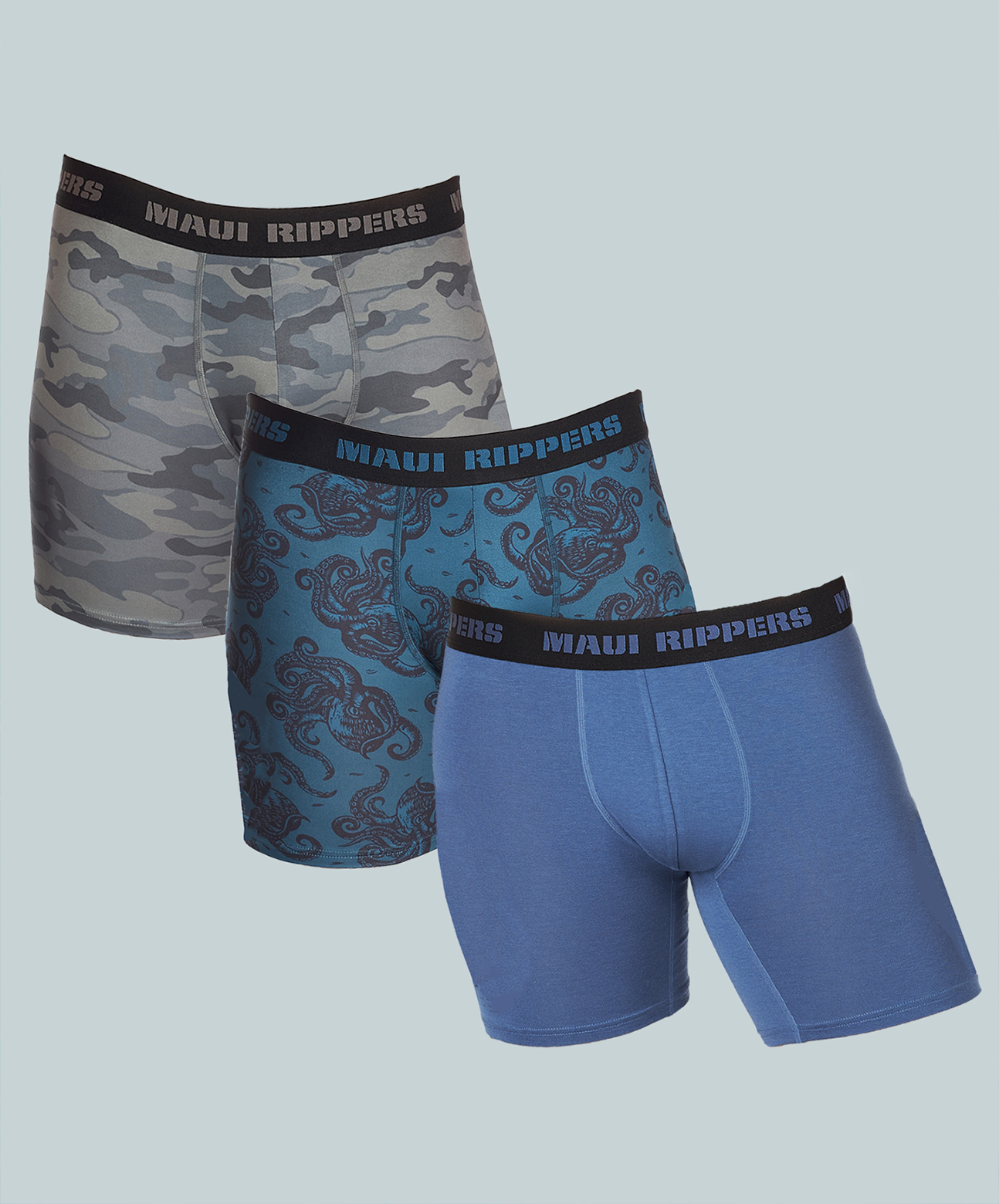 Maui Rippers men's underwear boxer briefs waterproof anti-odor and moisture wicking