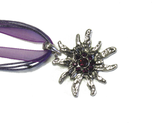 Swarovski Crystal Edelweiss Necklace Purple
