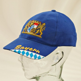 Bavarian Crest Cap Hat Blue