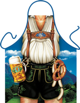 Itati Funny Bavarian German Cooking BBQ Apron - Bavarian Lederhosen Man