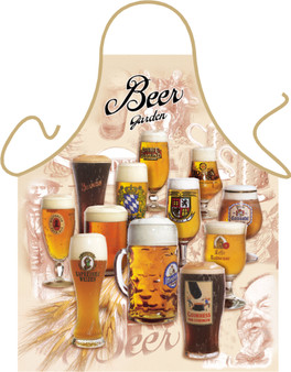 Itati Funny Bavarian German Cooking BBQ Apron -  Beer Garden