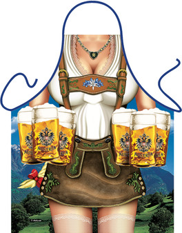 Itati Funny Bavarian German Cooking BBQ Apron - Austrian Apron Tyrolean Girl