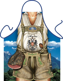 Itati Funny Bavarian Cooking BBQ Apron Tyrolean Man