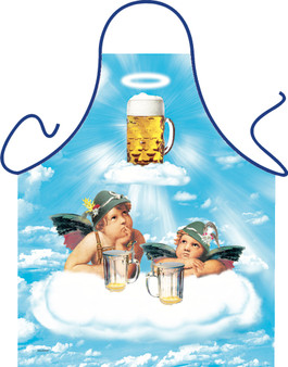 Itati Funny Bavarian Cooking BBQ Apron -  Bavarian Beer Angel