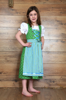Girls Kinder Dirndl Green