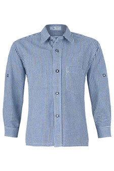 Boy's Shirt 'Ryan' Marine Blue
