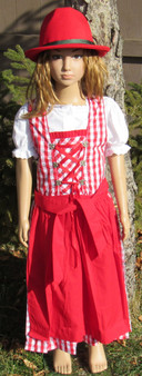 Girls Dirndl 'Amanda' Red