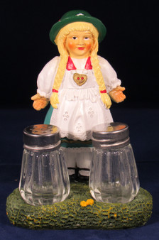 Salt and Pepper Shaker Dirndl Girl Souvenir Bavarian Specialites