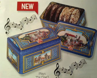 Wicklein Nuremberg Premium Lebkuchen in Music box tin, Plays Beethoven's  Für Elise