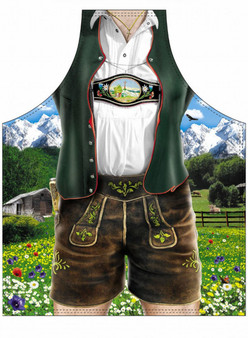 Itati Funny Bavarian German Cooking BBQ Apron - Male Classic Lederhosen