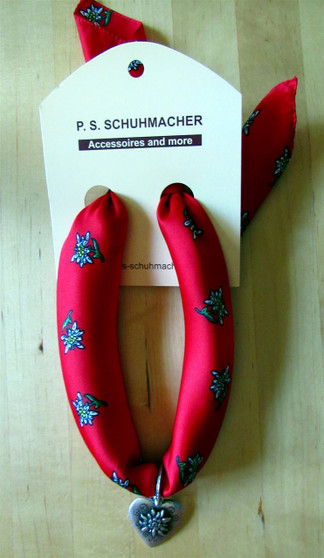 Edelweiss Scarf Red