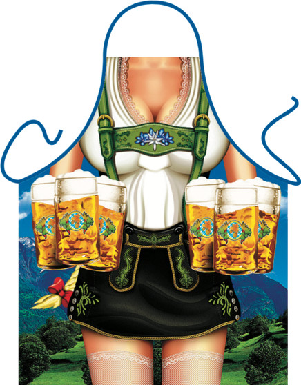 Itati Funny Bavarian German Cooking BBQ Apron - Bavarian Skirt Woman