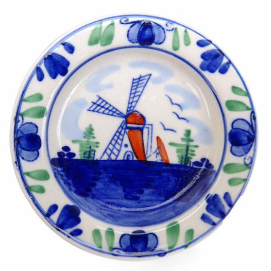 """This charming kitchen fridge plate magnet with a picture of a windmill acts as a teabag holder and will make for a great novelty gift idea or add a unique touch to your refrigerator. Approximate Dimensions (Length x Width x Height): SMALL: 2.25x2.25x0.5"""" / LARGE: 5x2.5x0.5"""" Material Type: Ceramic"""